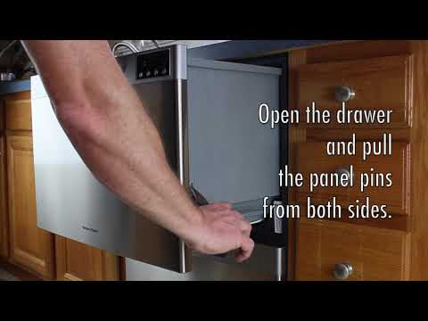 How To Remove The The Front Panel Of The Fisher And Paykel DishDrawer