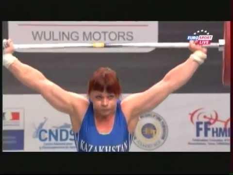 Женщины 75кг  Рывок.  ЧМ 2011. Тяжёлая атлетика