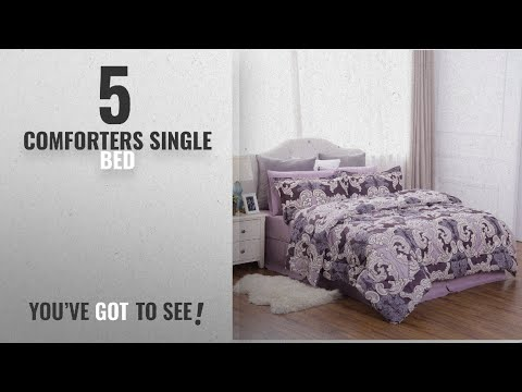 """top-10-comforters-single-bed-[2018]:-twin-size(68""""x88"""")-comforter-set-bed-in-a-bag-with-corner-ties"""