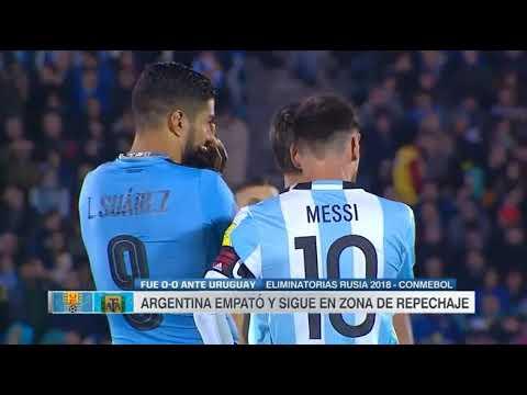 Uruguay vs Argentina (0-0) Eliminatorias Sudamericanas Rusia 2018 Fecha 15