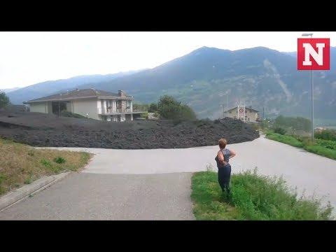 Avalancha de barro en Suiza