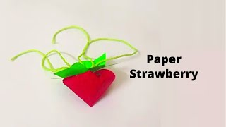 How to make Paper Strawberry #Shorts #DIY #Paper