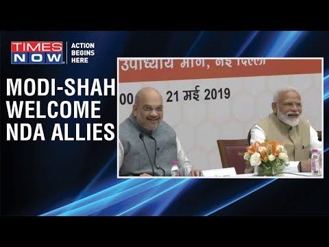 PM Narendra Modi and BJP Chief Amit Shah attend BJP's cabinet meeting in Delhi