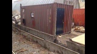 Баня из контейнера(Это видео создано в редакторе слайд-шоу YouTube: http://www.youtube.com/upload., 2016-01-28T13:56:22.000Z)
