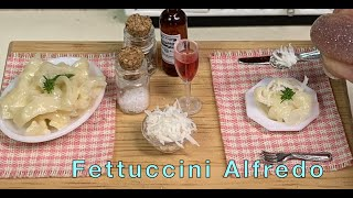 Fettuccini Alfredo,Worlds Smallest pasta. Real food cooked in a mini kitchen by Miniature Meals ep72