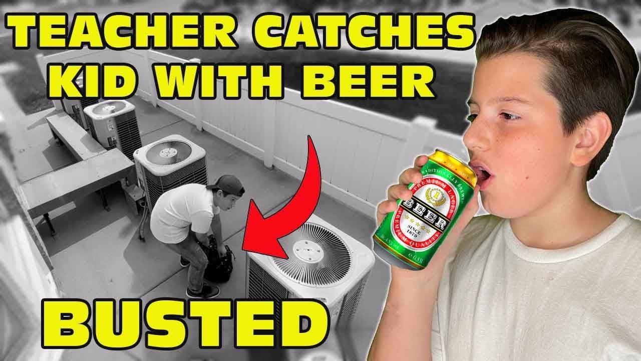 Kid Caught Drinking Beer On School's Security Camera 🤣😱बच्चा बीयर पीता है bachcha beeyar peeta hai