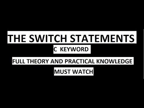 Tutorial 17 | Switch Statements | C Programming thumbnail