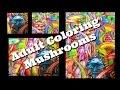 Adult Coloring : Magic Mushrooms