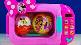 Minnie Mouse Microwave LOL Surprise Lil Sisters Kinder Joy Egg My Little Pony Shopkins
