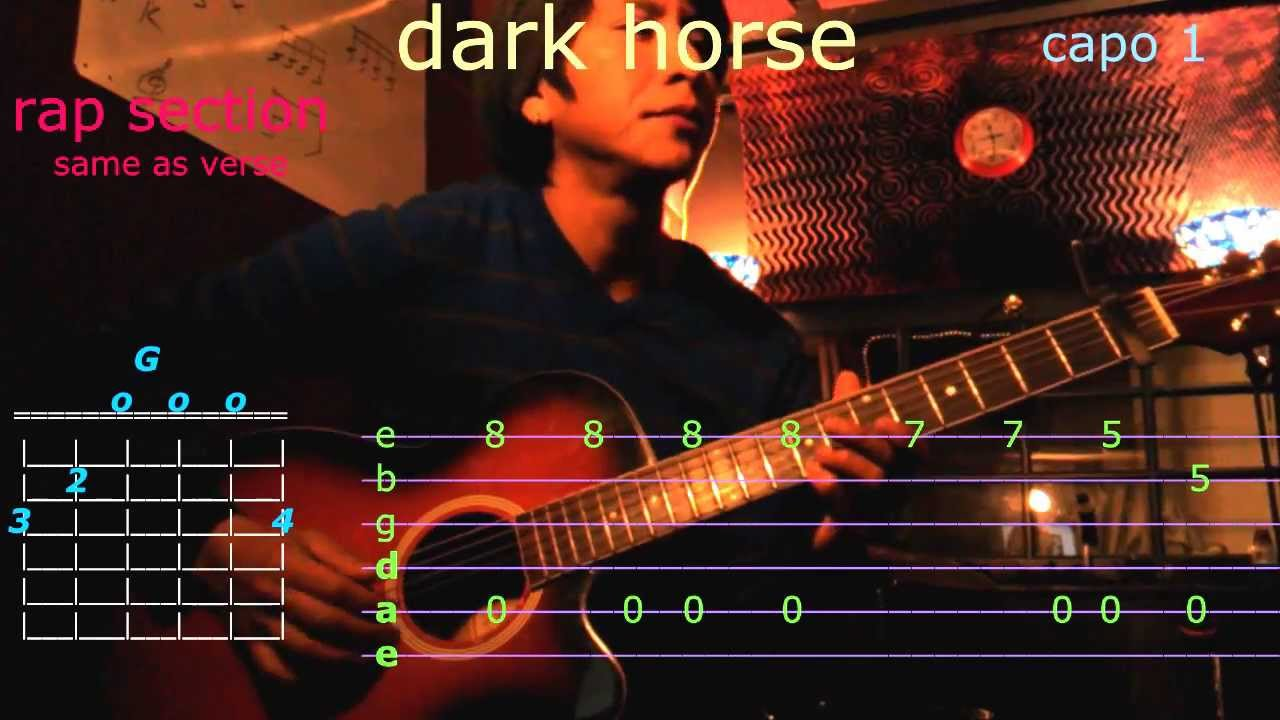 katy perry dark horse guitar chords and tab