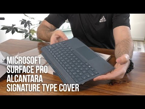 Microsoft Surface Pro Alcantara Signature Type Cover  - Unboxing and Review Cobalt Blue