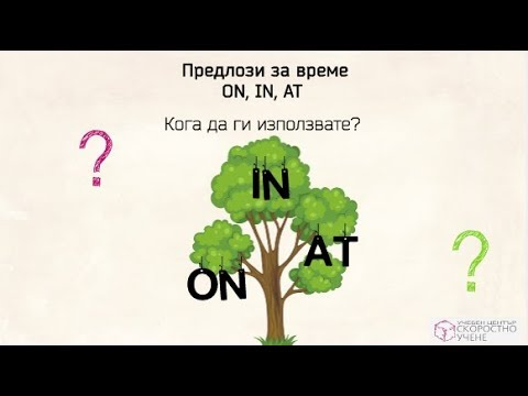 Предлози за време On In At.  Prepositions Of Time On In At. Самоучител по Английски език