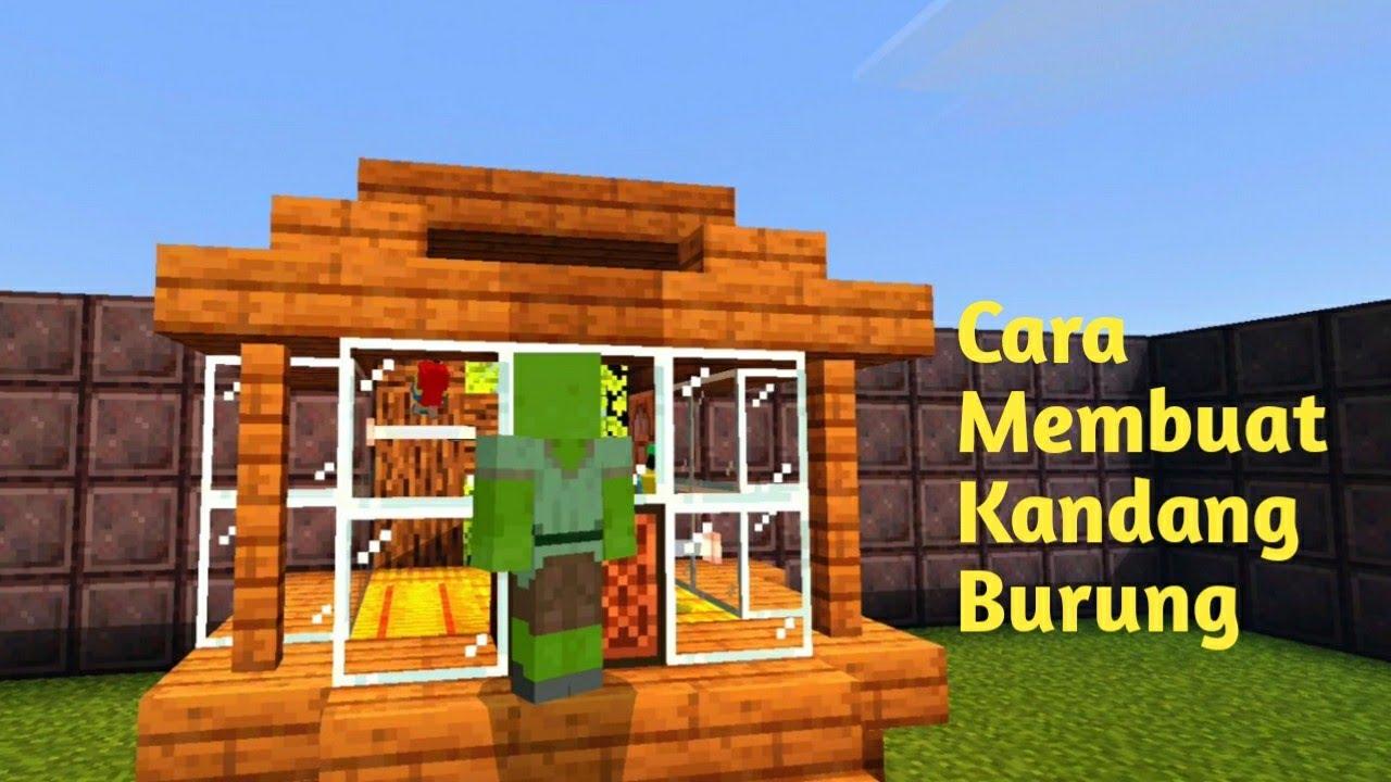 Cara Membuat Kandang Burung Di Minecraft - YouTube
