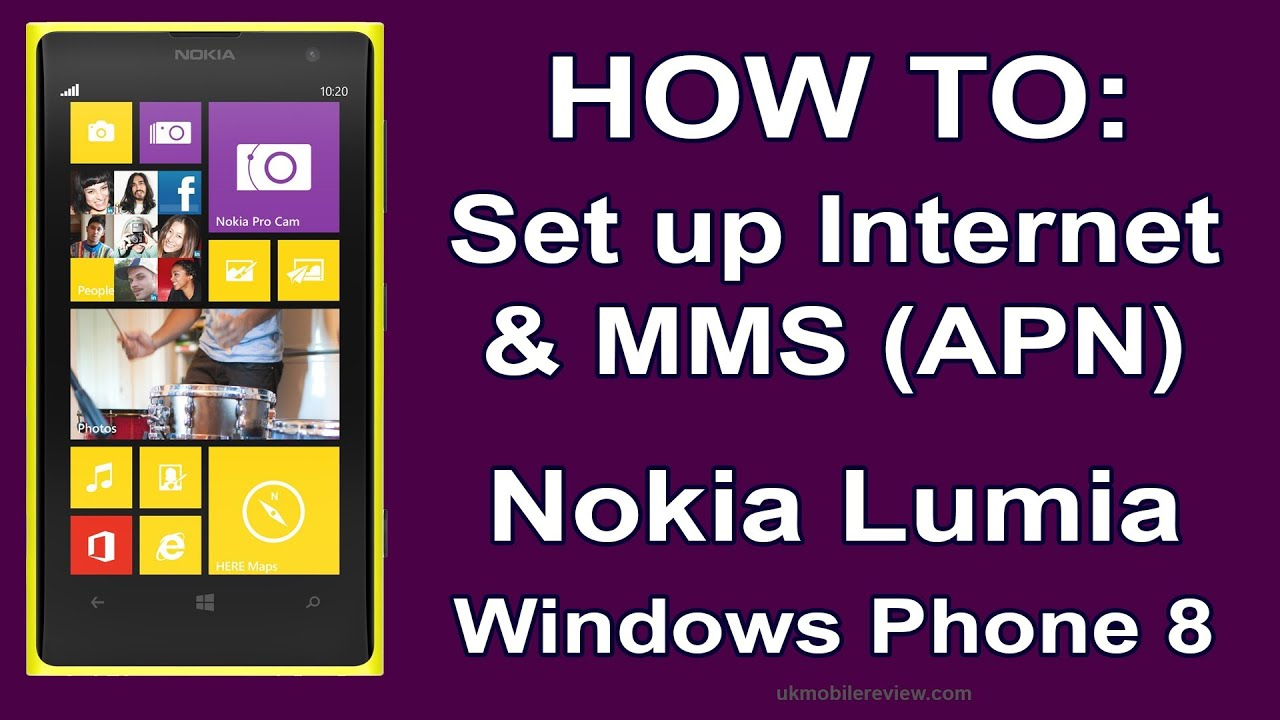 Nokia Lumia - How to Set up Internet & MMS