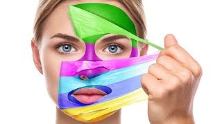 Face Mask Painting | Learning Colors for Children by HooplaKidz EDU