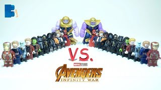 COMPARISON LEGO Avengers Infinity War Minifigures Lepin VS. SY 1060 Unoffcial LEGO