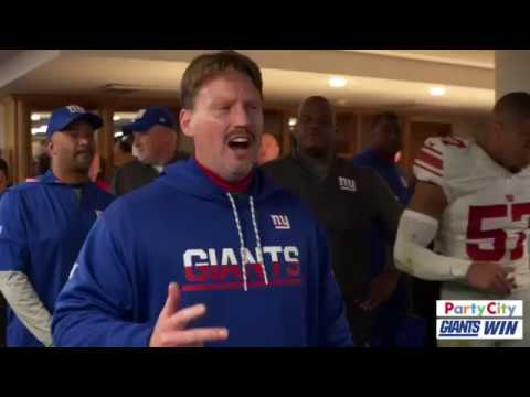 Ben McAdoo Victory Speech Locker Room Celebration | Giants vs Rams