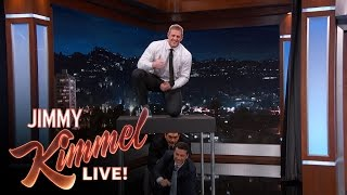 J.J. Watt Jumps Over Jimmy Kimmel & Guillermo