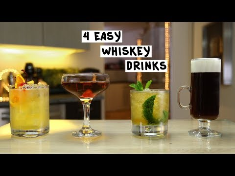 Four Easy Whiskey Drinks