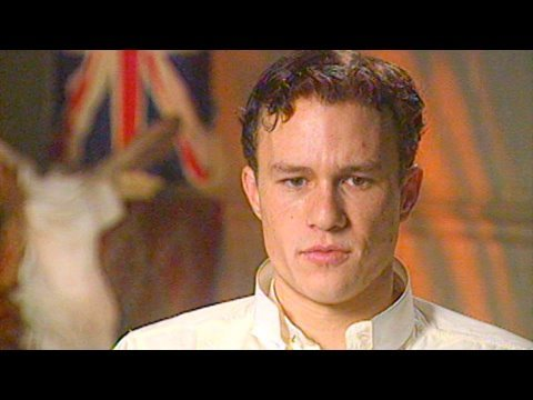 Heath Ledger in 2002 on 'The Four Feathers'