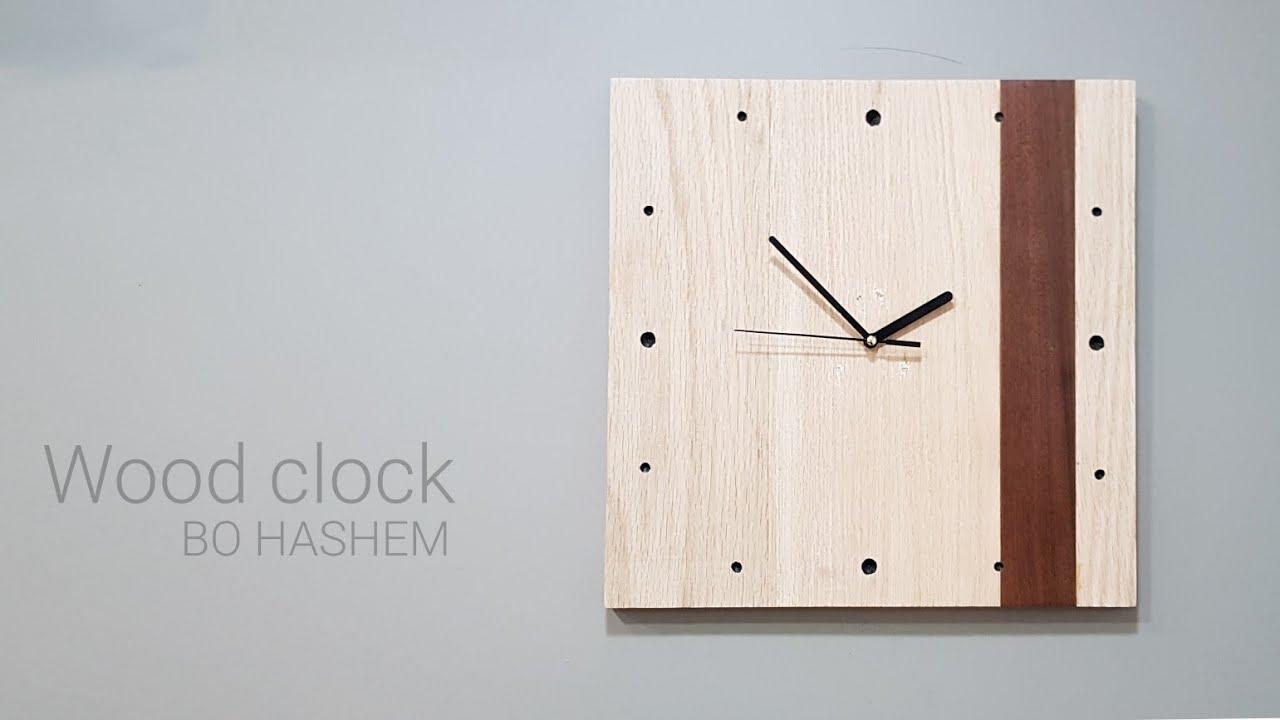 ساعة خشب Wood clock