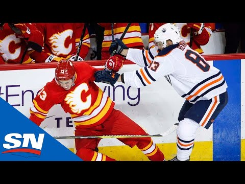 NHL Hits of The Week: Week 7 - Ian Cole Smashes Bruins and Battle of Alberta Rages On!