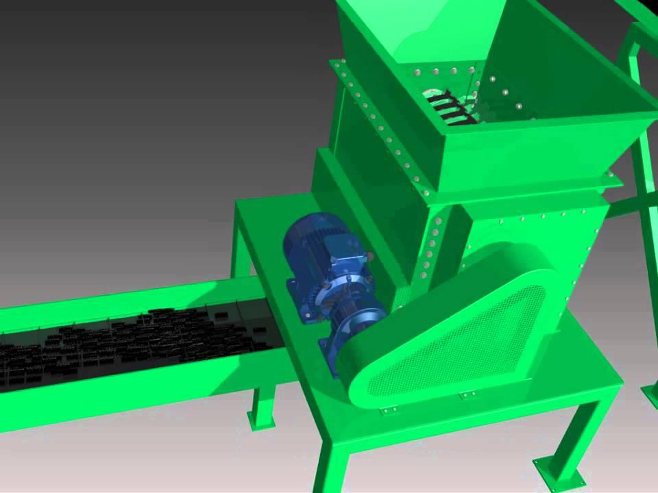 Animaci n proceso de reciclaje de llantas en autodesk - Reciclaje de maderas usadas ...