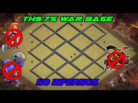 Th9.75 War Base Anti 3 Star With Replays| No Inferno Towers | Clash of Clans |❕