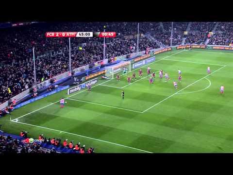 La Liga 2010 11, Barca   Atletico Madrid Full, HD, ES