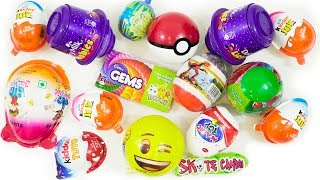 KINDER JOY AND OTHER SURPRISE EGGS CANDIES UNBOXING