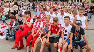 Strefa kibica w Ostrołęce - hymn Polski