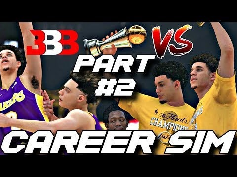 THE BALL BROTHERS CAREER SIMULATION VERSUS ON NBA2K18!! WHO IS THE BEST BALL? PART 2!!!