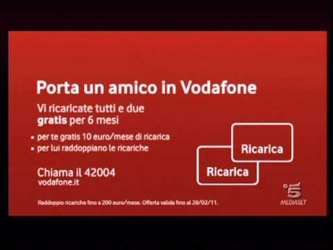 Vodafone spot 2011 totti porta un amico in vodafone - Vodafone porta un amico ...