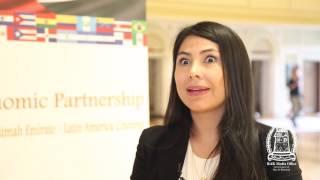 Claudia Guevara, Deputy Consul General of Peru, UAE speaking about RAK & Latin America partnership