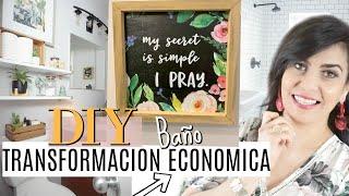DIY TRANSFORMA  Y DECORA TU BAÑO | CAMBIO RADICAL CON POCO DINERO - CarolaMM thumbnail