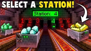 Auto-RAILWAY STATION System! - Minecraft Tutorial