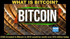 WHAT IS BITCOIN? $100.00 invested in Bitcoin in 2010 would be worth over $75 million today