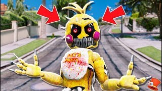 *NEW* NIGHTMARE TOY CHICA ANIMATRONIC! (GTA 5 Mods FNAF RedHatter)