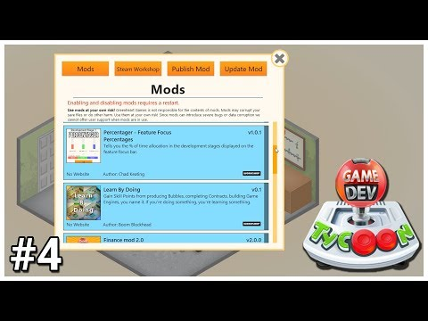 Game Dev Tycoon - #4 - Mods - Let's Play / Gameplay / Construction