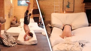 Indoor Double Backflip Fail!