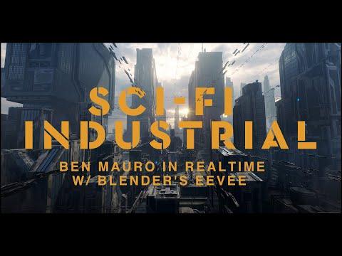 Halo Infinite Senior Concept Designer Ben Mauro In Realtime W/ Blender's EEVEE
