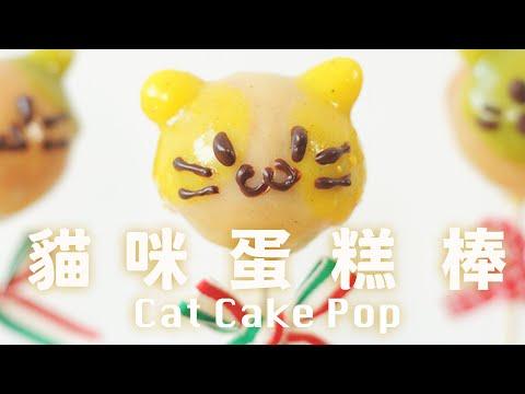 貓咪蛋糕棒 超萌﹗派對上最受歡迎的點心 沒有泡打粉人工色素 Cat Cake Pop Recipe - YouTube