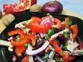 Салат тбилиси с красной фасолью и мясом  салат с фасолью  салаты с мясом