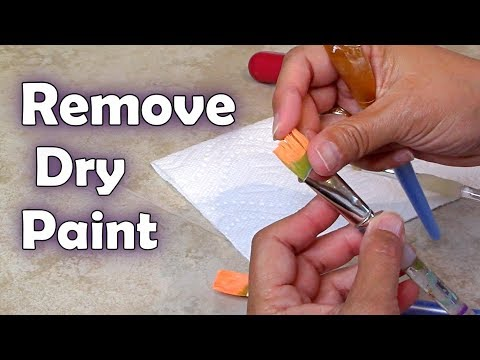 How to Remove Dry Paint from Brushes - Art Hacks! How to clean Painting Brushes ❤️