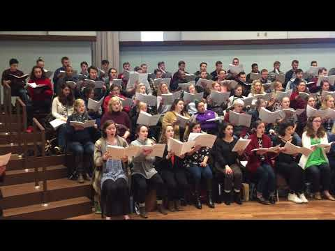 """Westminster Symphonic Choir rehearses Tod Machover's """"Philadelphia Voices"""""""
