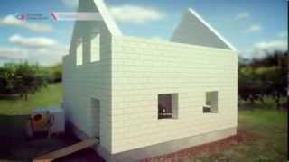 Строительство дома из газобетонных блоков(Строительство дома из газобетонных блоков - ролик, созданный ТО
