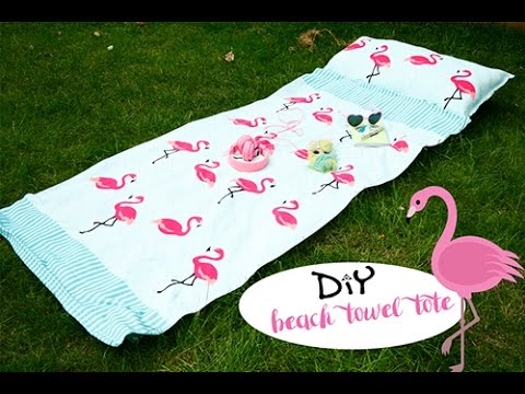 DIY beach towel tote - YouTube