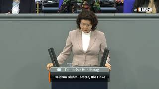 Heidrun Bluhm-Förster, DIE LINKE: Umweltpolitik ohne Zukunft in dieser Regierung