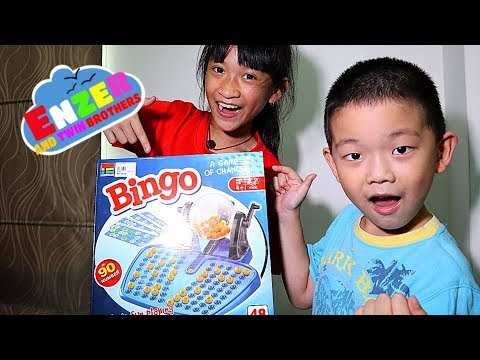 Fun Playing BINGO Game At Home! A Game Of Chance With Number For Kids