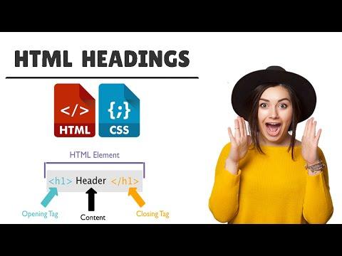 Html Headings (h1 H2 H3 H4 H5 H6) Tags | Paragraph Tag And Anchor Tag #3